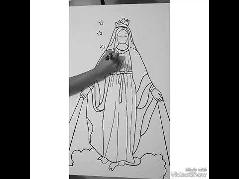 Desenhando Nossa Senhora Das Gracas Mandalas Oracao Youtube