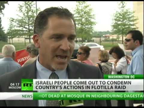 Israeli's protest Gaza Flotilla attack