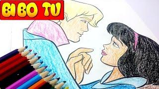 Disney Princess Coloring Book For Kids | Trò Chơi Bé Tập Tô Màu Vẽ Tranh Hoàng Tử và Công Chúa