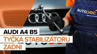 Podívejte se na video průvodce jak vyměnit Brzdove hadicky na AUDI A4 (8D2, B5)