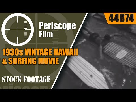 1930s VINTAGE HAWAII & SURFING MOVIE  WAIKIKI BEACH  HONOLULU 44874