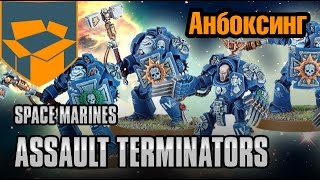 Анбоксинг - Space Marines Terminator Assault Squad