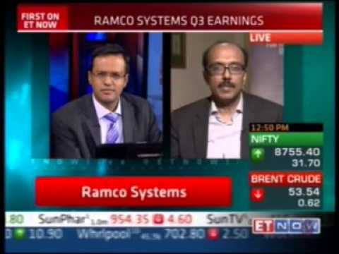 Virender Aggarwal, CEO – Ramco Systems shares Q3 2014-15 performance with ET Now