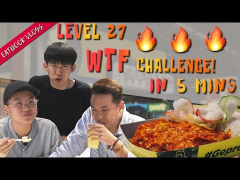 FINISH THIS LEVEL 27 SPICY AYAM GEPREK AND IT'S FREE | Eatbook Vlogs | EP 103