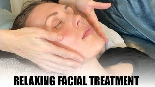 Relaxing facial video with calming music for sleep