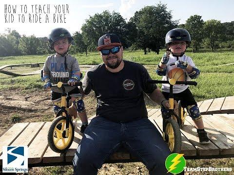 Best way to teach kids how to ride! (Siloam Springs Pump Track Balance Bike)