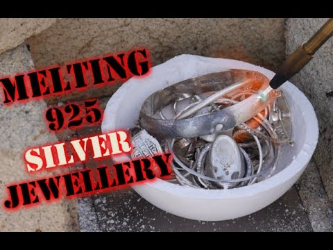 MELTING down SILVER (925) Jewellery! with a blow torch