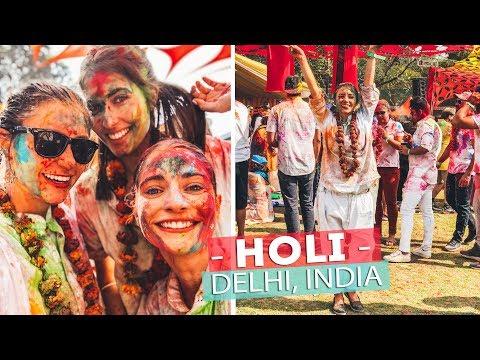 AMAZING COLOR FESTIVAL!   celebrating HOLI in INDIA!