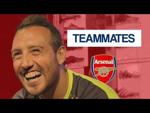 Who is the WORST dressed Arsenal player? | Santi Cazorla Teammates