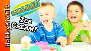 Sands Alive Play Dough Toy Cream Cone Surprises by HobbyKidsTV