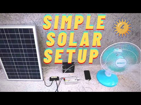 How To Setup A Solar Power System | Cheap Solar Panel System | Quick and Easy Guide (2021)