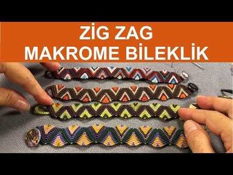 Zig Zag Makrome Bileklik