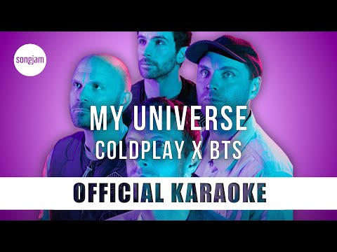 Coldplay x BTS - My Universe (Official Karaoke Instrumental)   SongJam