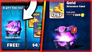 """Clash Royale: FREE """"MAGICAL CHEST"""" OPENING! DO I GET A LEGENDARY??"""