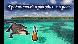 Гребнистый крокодил с кровью.  Русская Рыбалка.