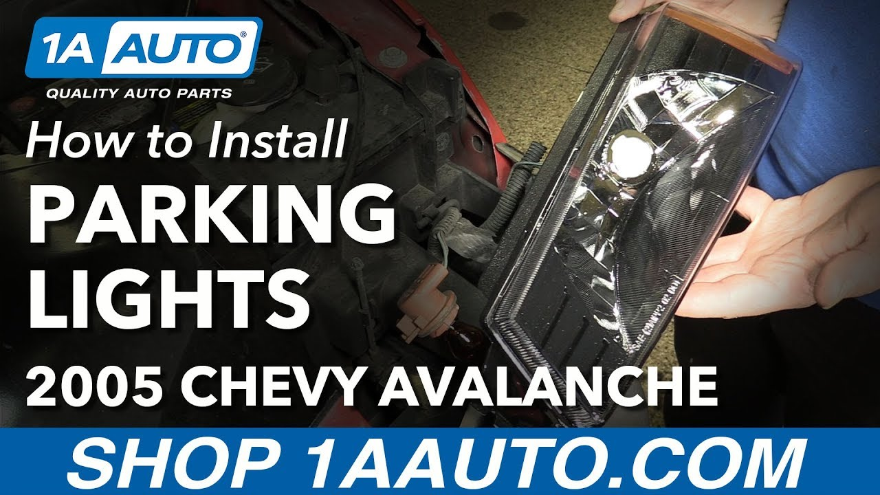 how to install replace parking lights 2003 06 chevy avalanche 1500 [ 1280 x 720 Pixel ]