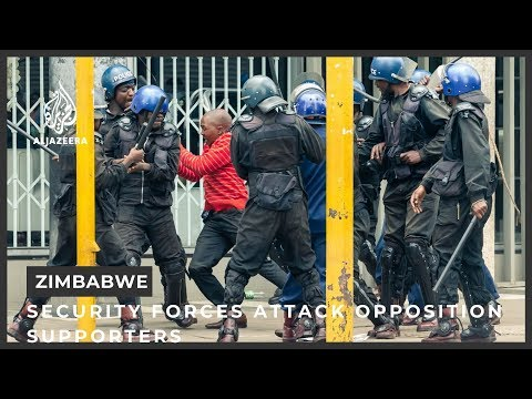 Zimbabwe security forces attack opposition supporters