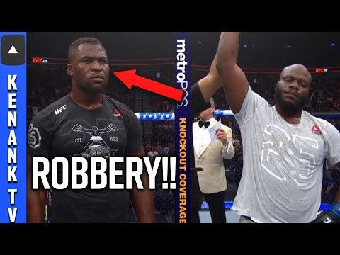 (ROBBERY!?) Francis Ngannou LOSES To Derrick Lewis | UFC 226: Full Fight Recap HD | Highlight's Talk