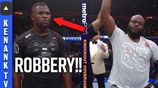 Robbery  Francis Ngannou Loses To Derrick