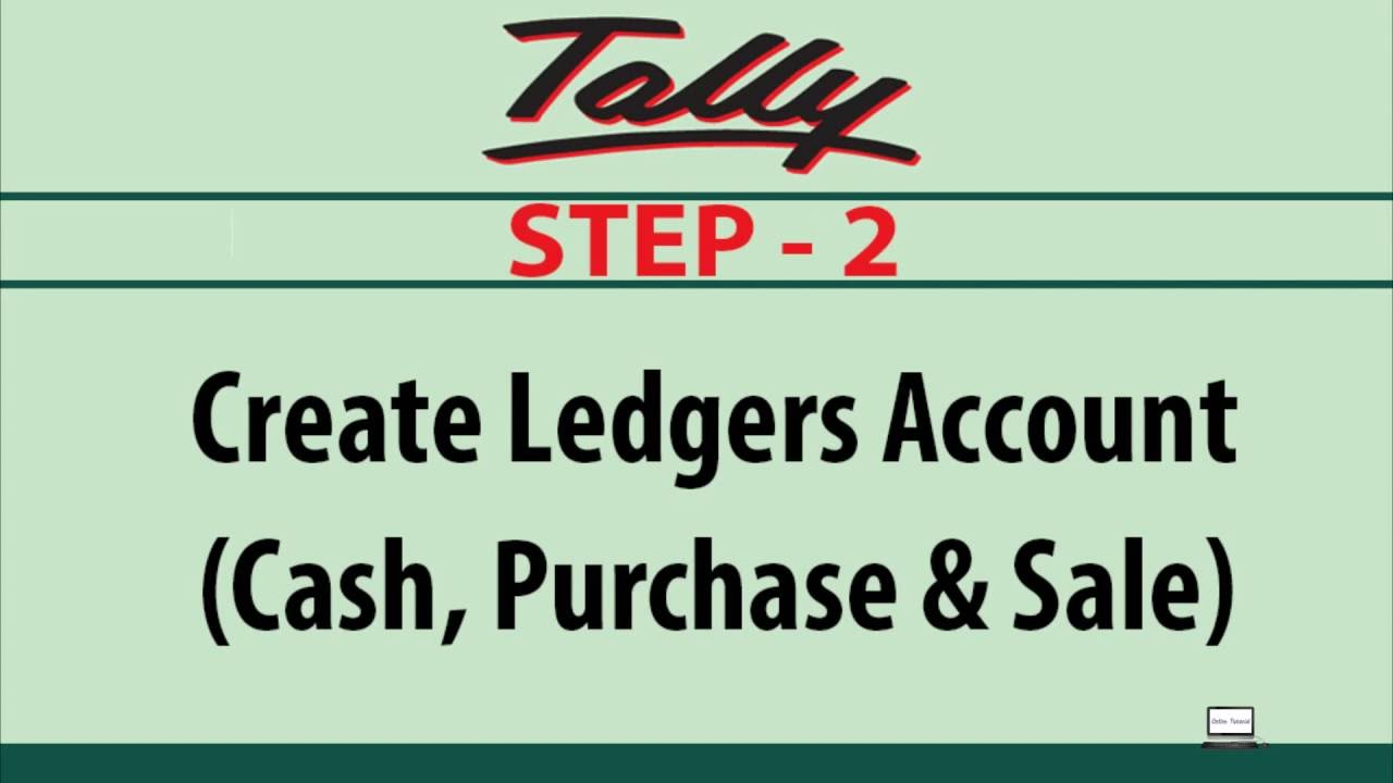 how to create cash purchase sale ledgers account intally youtube
