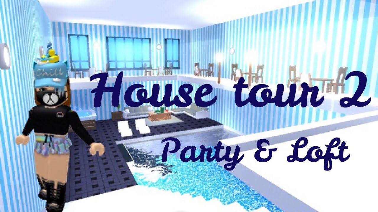 FUTURISTIC HOUSE TOUR 2 (Loft & Party) Roblox Adopt me ...