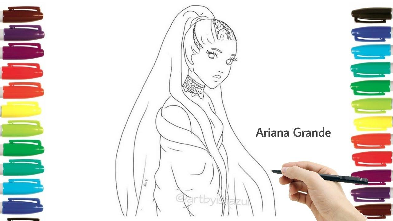 How to draw ariana grande dangerous women tour drawing tutorial