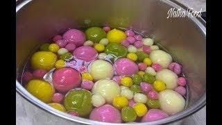 Chè Viên/ Chè Trôi Nước 5 màu tự nhiên, bí quyết cho món chè ngon không bị cứng || Natha Food