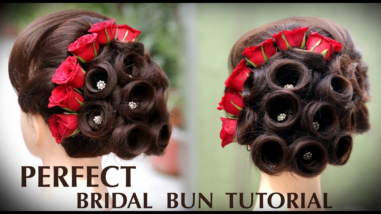 perfect bridal bun | bridal juda kaise banaye | ladies hair style tutorials 2018 | fancy judha kaise