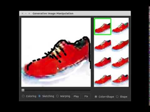 Designing new shoe with a few scribbles (by Generative Visual Manipulation ECCV 16