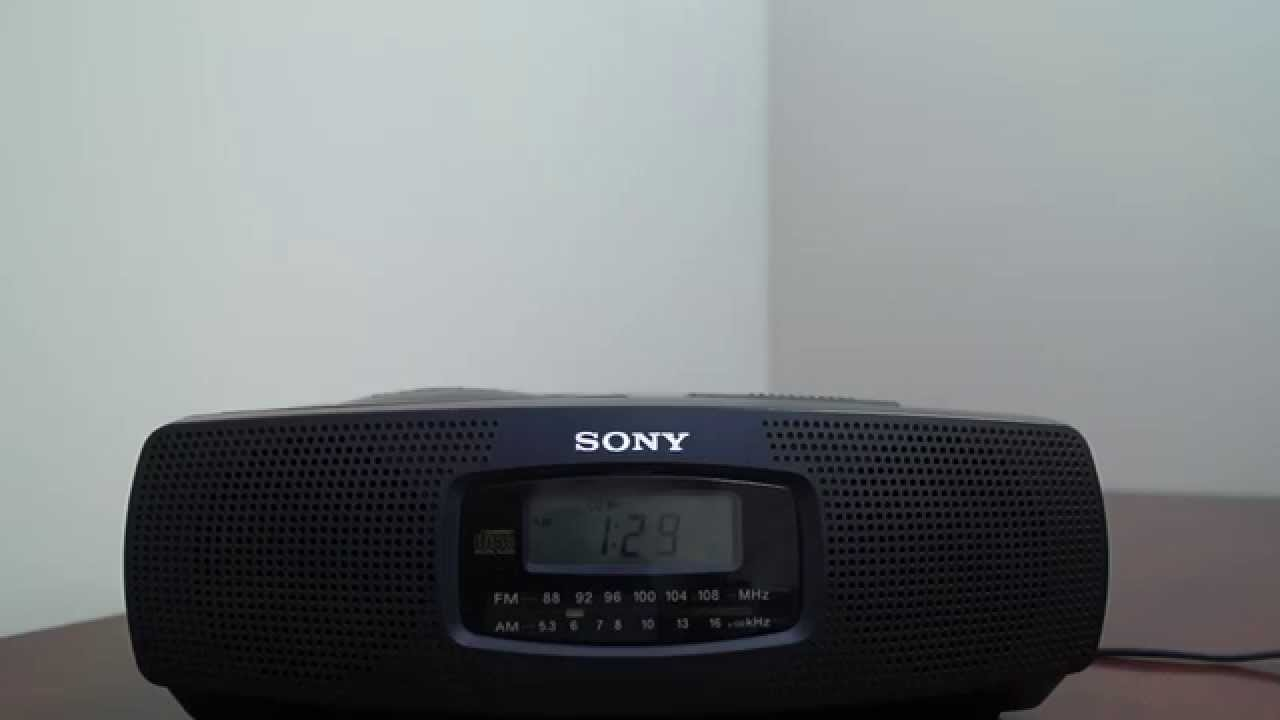 sony machine cd player alarm clock radio