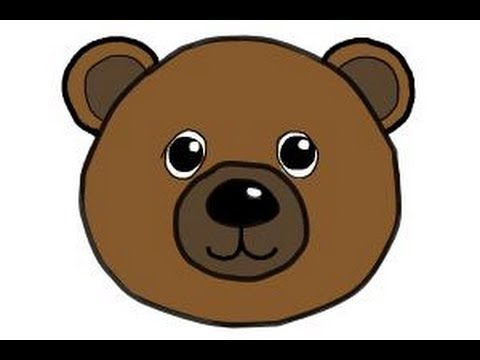 How to draw a bear face - YouTube Bear Face Drawing
