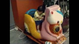 the creepiest kiddie ride in china with cute kid shake that