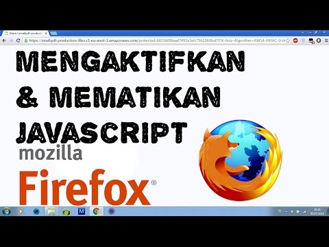 Cara Mengaktifkan Javascript Dan Cookies Di Mozilla
