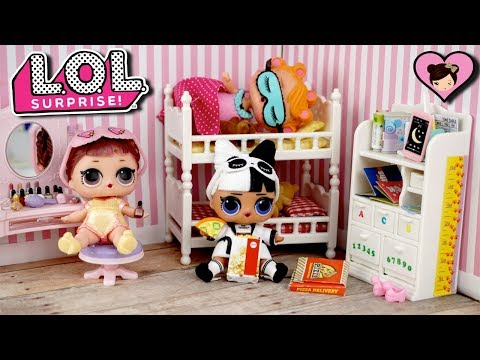 LOL Surprise Confetti Pop Sleepover Club Pajama Party Toy Video