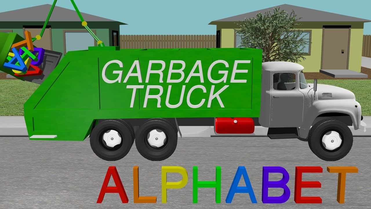 alphabet garbage truck learning for kids youtube. Black Bedroom Furniture Sets. Home Design Ideas