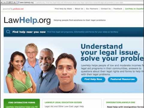 Legal Aid and Other Low-Cost Legal Help