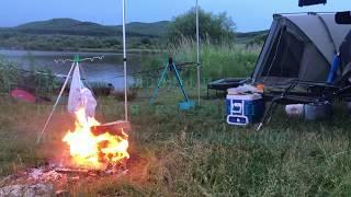 Рыбалка на озере июль 2020 Карп радует клевом Триплет Сразу три карпа Рыбалка на карпа