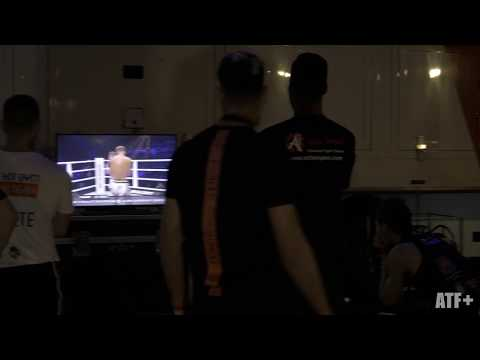 Josh Jauncey takes in some fights backstage - ATF+