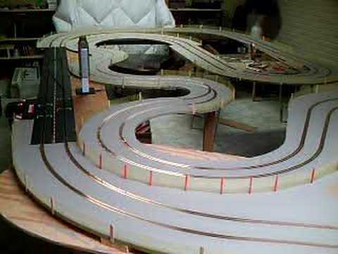 Slot Car Laps Wood Mdf Track Youtube