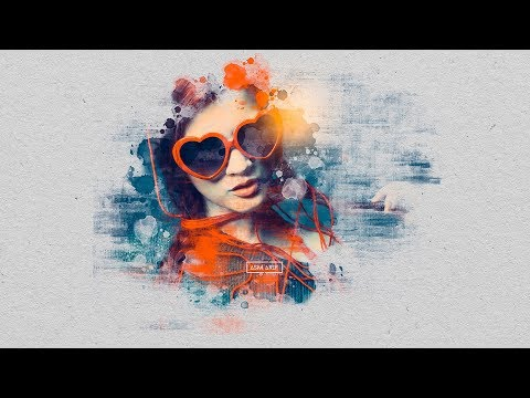 Abstract Brush Effect Portrait (Brush) | Tutorials Photoshop | Photoshop CC 2019