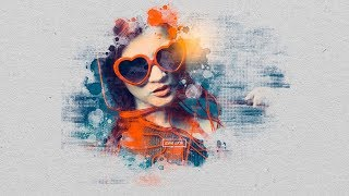 Abstract Brush Effect Portrait (Brush) | Tutorials Photoshop | Photoshop CC 2019