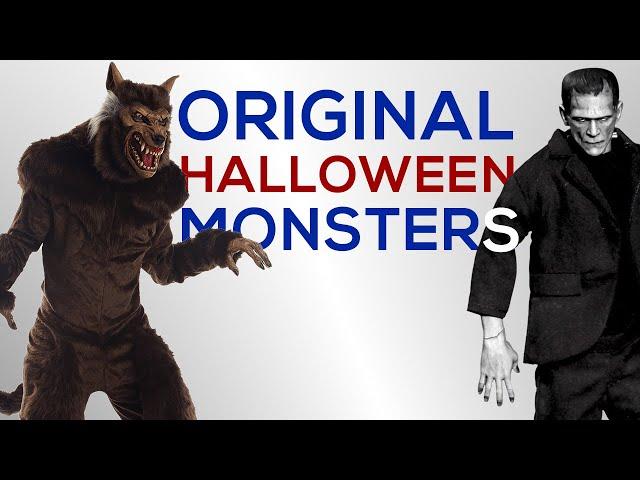 Original Spooky Monsters of Halloween