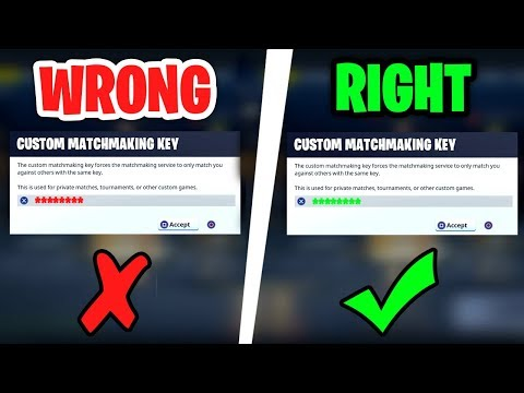 supported matchmaking key fortnite