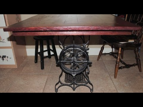 Custom Sewing Machine Stand Dining Table YouTube Gorgeous Custom Sewing Machine Table