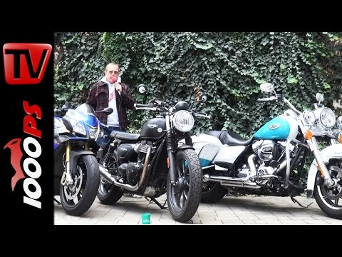Aprilia V4 1100 Tuono | Triumph Street Twin | HD Road King | Dauertest 2016