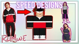 MAKING ROMWE OUTFITS ON ROBLOX! | Speed Designs