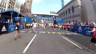 Surprise! Last mile of Boston Marathon