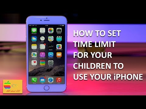How To Set Time Limit On Your IPhone Or IPad For Your Children