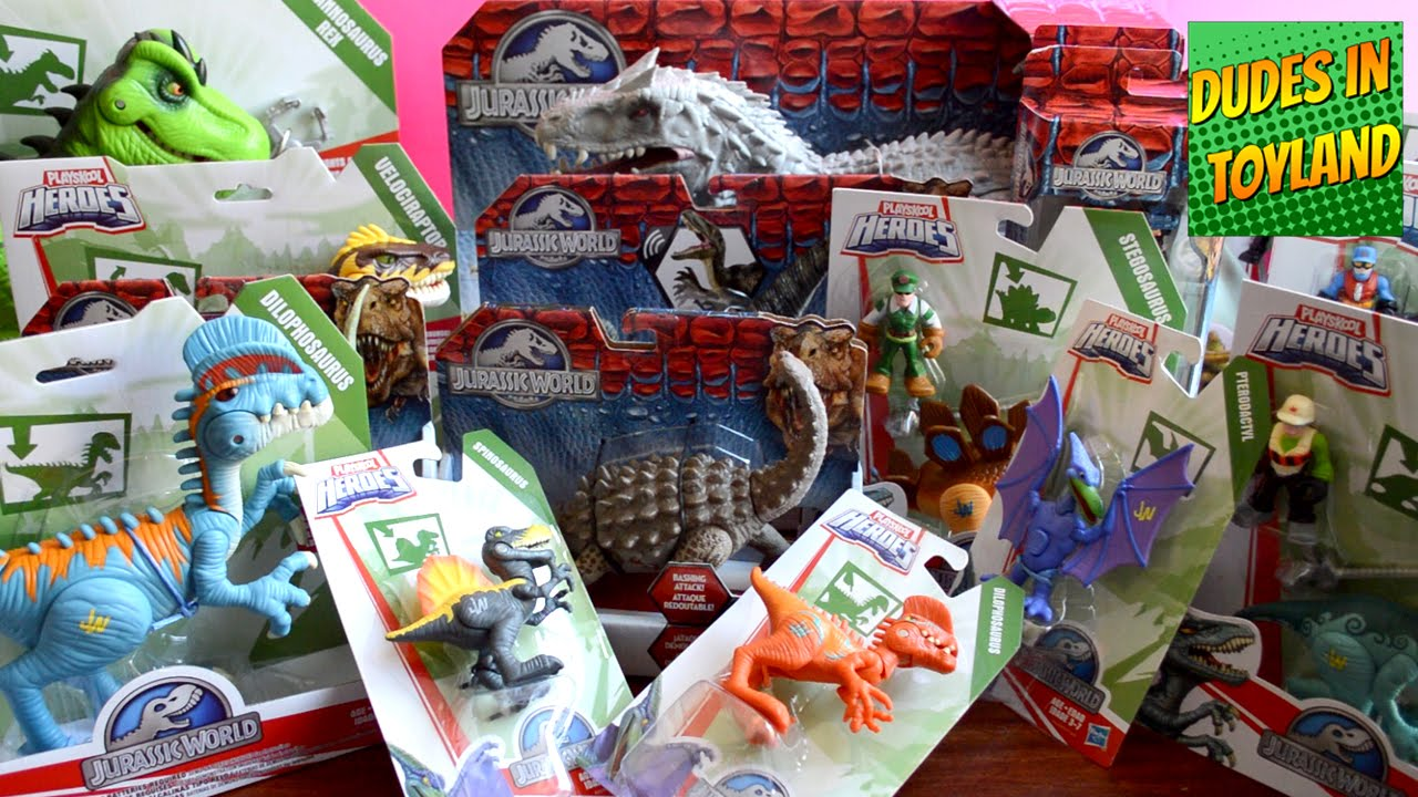 Jurassic World Toys Haul Playskool Heroes T Rex