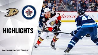 NHL Highlights   Ducks @ Jets 12/08/19
